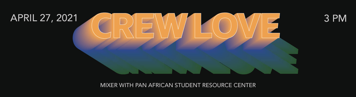 Crew Love is back on April 26, 2021. Click the image to register for the event!