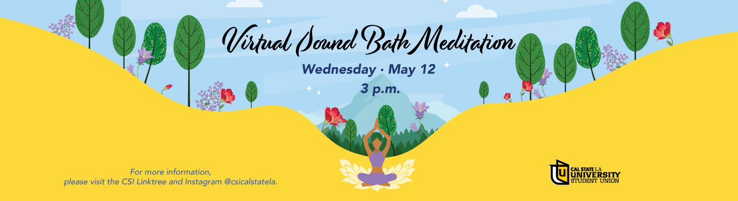 Sound Bath Meditation, May 12th at 3pm. Click here to visit our link tree