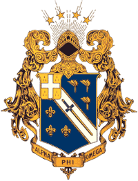 Alpha Phi Omega crest photo